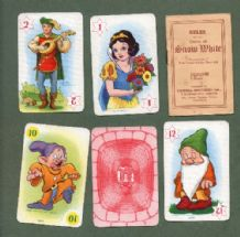 Vintage cards game.Snow White & 7 dwarfs 1930's